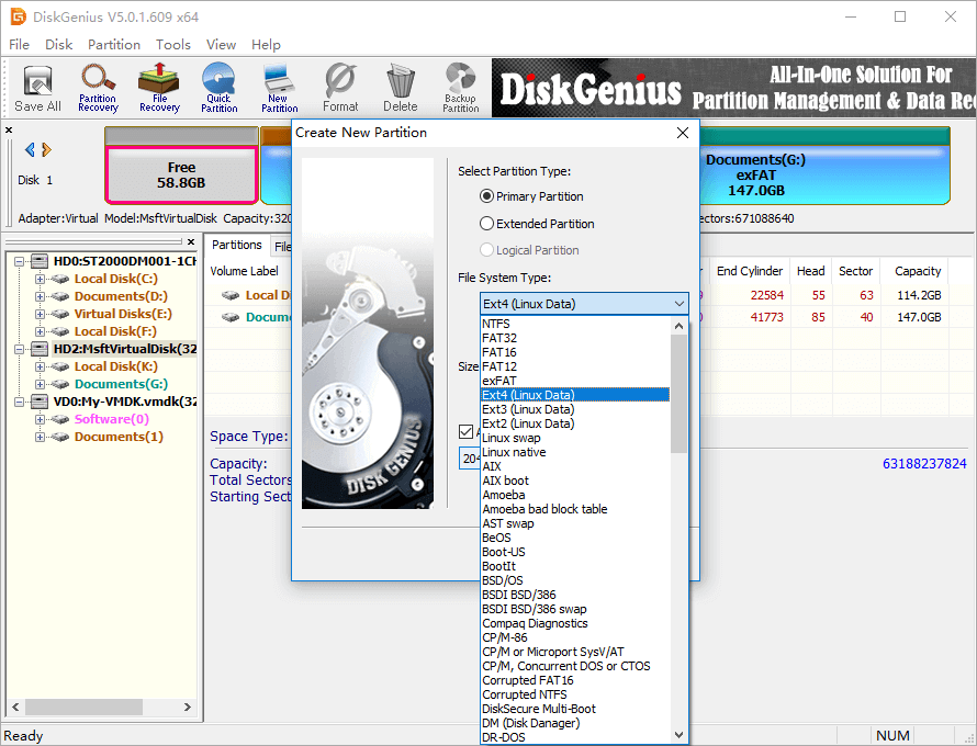 Free Disk Partition Software for Windows 10/8/7/Vista/XP