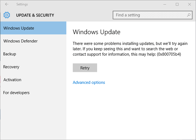 How to fix 0x800705b4 error in Windows Update and Windows Defender