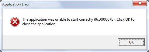 Fix The Application Was Unable To Start 0xc000007b Error In
