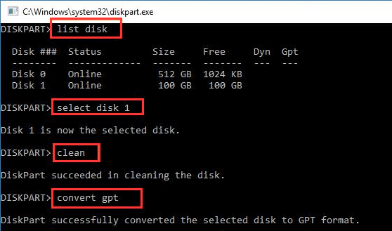 Fixed – The selected disk has an MBR partition table