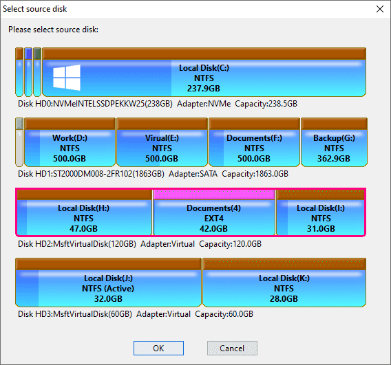 Clone / Copy Disk - DiskGenius