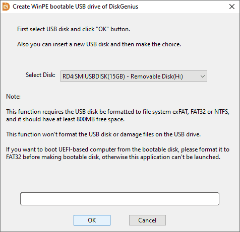 Create WinPE Bootable USB Drive - DiskGenius